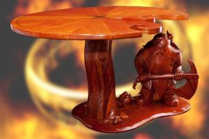 """"""" LO SCONTRO """" Tavolo girevole a guardia del quale si trova un imponente Nano guerriero."""