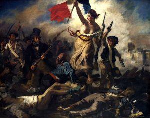 """Eugène Delacroix """"La libertà che guida il popolo """"(1830), Museo del Louvre"""