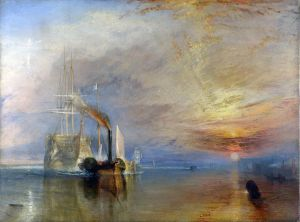 "William Turner, "" La valorosa ""Téméraire, National Gallery, Londra, 1838."