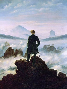 """Caspar David Friedrichr  """" Viandante nel mare di nuvole """""""
