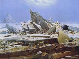 """Caspar  David Friedrich """" Il mare di ghiaccio """""""