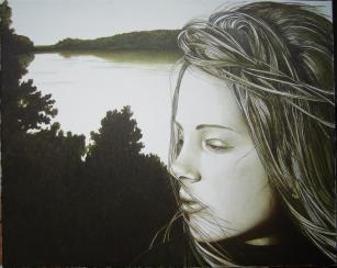 """"""" Anna """" olio su tela 40 x 50 AMALIA DI SANTE"""
