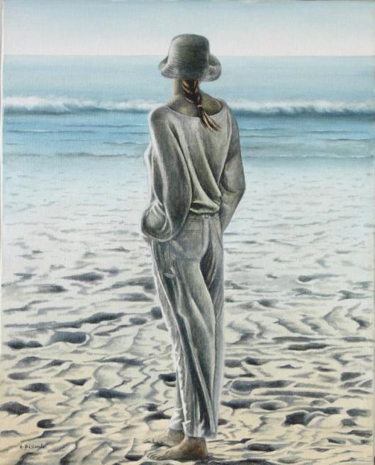"""""""Davanti a me il mare""""n.2 olio su tela AMALIA DI SANTE"""