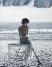 """""""Davanti a me il mare""""olio su tela 40 x 50 AMALIA DI SANTE"""
