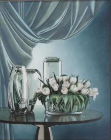 """""""Luminescenze """" olio su tela 40 x 50 AMALIA DI SANTE"""